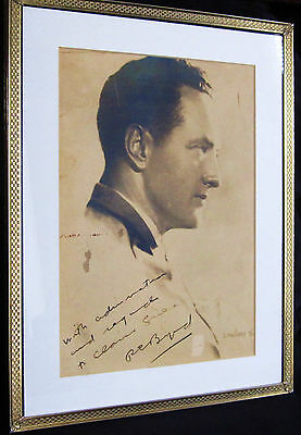 Admiral Richard E. Byrd Signed 1930'S Framed Portrait, Antarctic Expedition