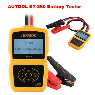 AUTOOL BT-360 12V Car Battery System Tester Vehicle Charging Test Analyzer
