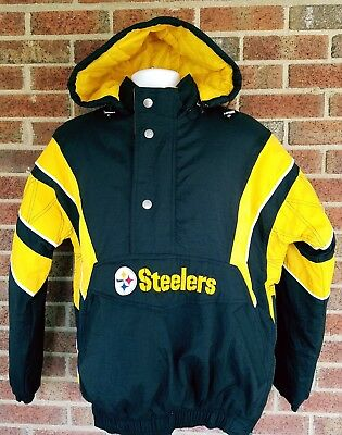finest selection c76b9 6a904 PITTSBURGH STEELERS STARTER Mens Size Medium Hooded Jacket NFL Winter Coat  NEW!