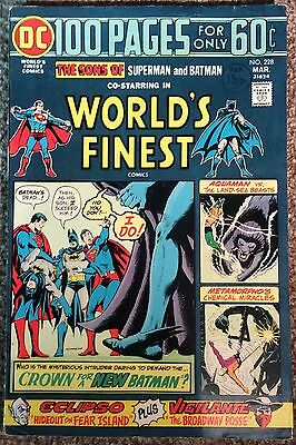 Worlds Finest #228 1975 Superman & Batman. 40 Yrs Old FN Condition B & Boarded