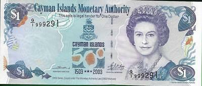 CAYMAN ISLANDS - 1 Dollar * P -30, AU-UNC 2003 - Commemorative Note * Triple 999