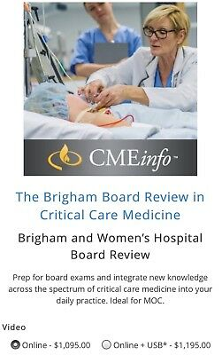 Brigham & Women's Hospital Critical Care Board Review 2017 (Latest)