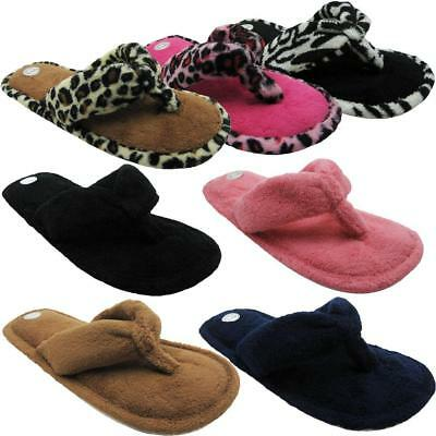 Women's Fashion Terry Cotton (Animal Printed) Flip Flop House Slippers