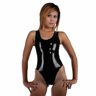 Brand New Rubber Latex Gummi Black Suit Body Catsuit Black (one size)