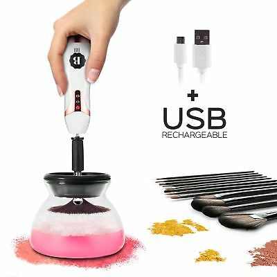 BIBI USB CHARGING Makeup Brush Cleaner and Dryer Machine, Clean in Seconds and