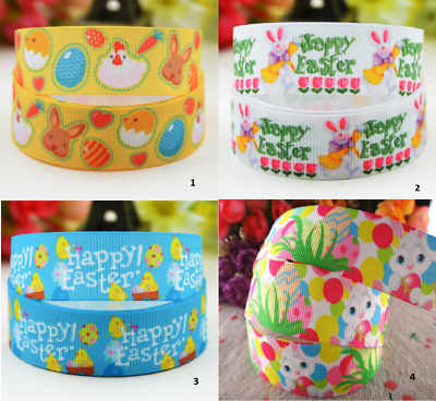 Grosgrain ribbon 1 meter - happy easter ribbon 22 mm