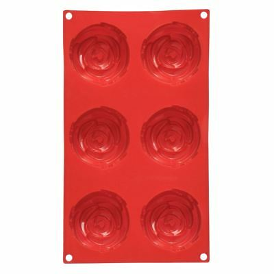 Premier Cake Mould, 6 Rose, Red Silicone