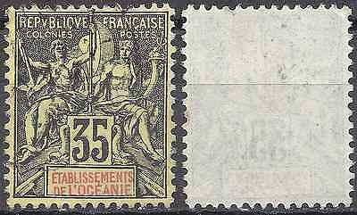 Colony Oceania N°18 - Obliteration Stamp Has Date - Value
