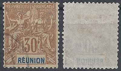 Colony Réunion N°40 - Obliteration Stamp Has Date - Value