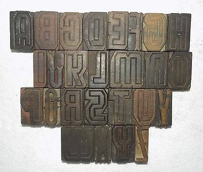 """""""A to Z"""" Letterpress Letter Wood Type Printers Block collection.vb-527"""