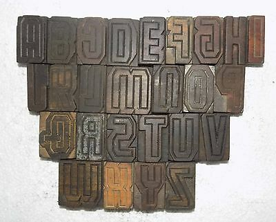 """""""A to Z"""" Letterpress Letter Wood Type Printers Block collection.vb-537"""