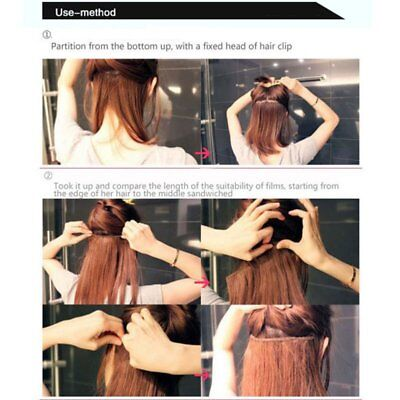Women Clip In On Colorful Hairpiece Synthetic Straight Hair Extensions Highlight