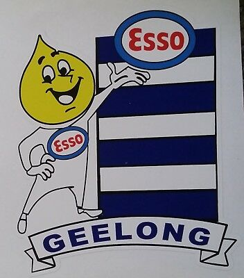ESSO & GEELONG Vinyl DECAL STICKER Petrol afl vfl sanfl THE CATS