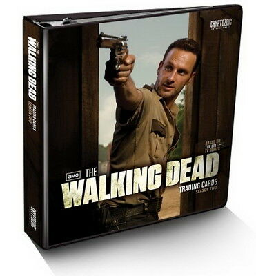 2012 The Walking Dead Season 2 Trading Card Binder + Exclusive M33 Wardrobe Card