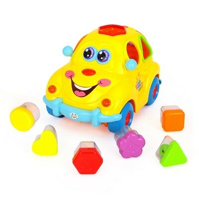 Cute Baby Kids Simulator Musical Car Cartoon Toys Kids Educational Learning Toy