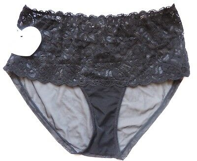64e5d2fc081 NEW MIMI HOLLIDAY Black Lace Knickers Size M -  22.53
