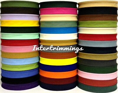 Cotton Bias Binding Tape Folded 37 X 25Mm (1 Inch) Choose Colour & Length