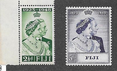 Fiji Sg 270-271 Silver Wedding B-10