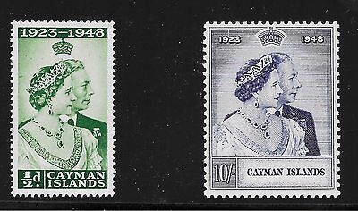 Cayman Islands 129-130 Silver Wedding B-9