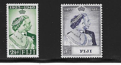 Fiji Sg 270-271 Silver Wedding A-15