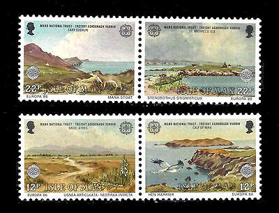 ISLE OF MAN SG317-320 1986 EUROPA NATURE Unmounted Mint