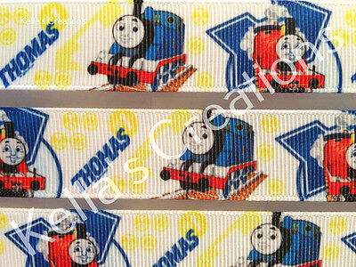 """Thomas the Tank 7/8"""" Grosgrain ribbon sold by 2 M - Craft - Cakes"""