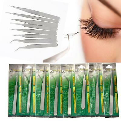 Stainless False Eyelash Extension tools Tweezers Russian 3D Volume Lash MZUS