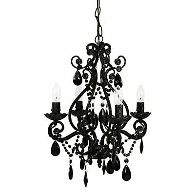 TMS Mini Crystal Chandelier 6-Light Antique Small Pendant Chandelier Ceiling New
