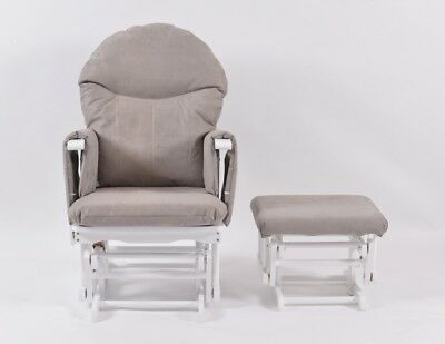 Habebe Recliner Rocking Glider Chair & Stool WASHABLE COVERS & BRAKE