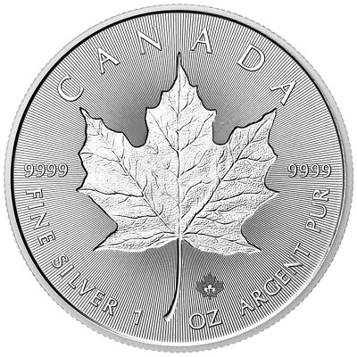 2018 $5 Silver Canadian Maple Leaf 30th Incuse 1 oz Brilliant Uncirculated