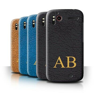 Personalised Custom Leather Effect Phone Case for HTC Sensation XE/Initial Cover