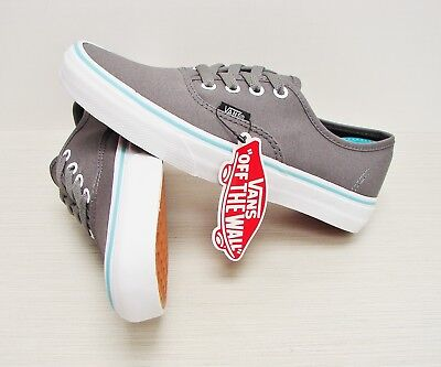 54ff0bc3a70003 Vans Authentic Pop Gargoyle Blue Curacao VN0ZUKFK2 Men s Size  6.5
