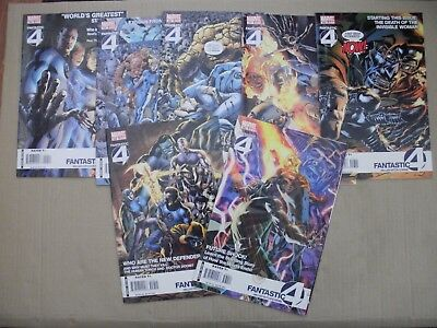 Fantastic Four - Issues #554,555,556,557,558,559,560 - Marvel 1St Prints 2008