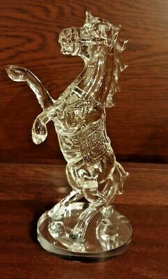 Crystal Decorative Standing Horse with stand Gift box Souvenir Clear UK Seller