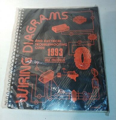 harley davidson 1993 wiring diagrams & electrical troubleshooting  oem harley davidson 1993 electrical troubleshooting and wire diagrams 99948 93