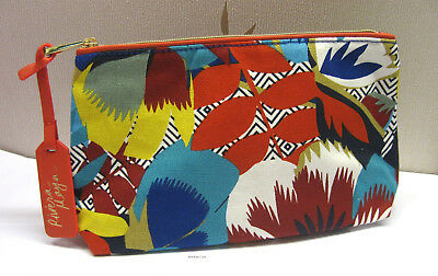 "Estee Lauder Kitty Mccall ""Riviera"" Brightly Patterned Make Up Bag New"