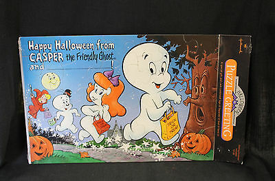 Vintage Casper the Friendly Ghost Halloween Hallmark Puzzle 1988 NOS Sealed MIP