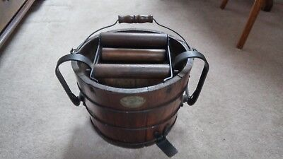 Antique Wringer Wooden Clothes Washer Machine with Bucket