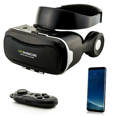 Virtual Reality Headset 3D VR Brille für Samsung Galaxy S6 S7 Edge S8+ S9 Note 8
