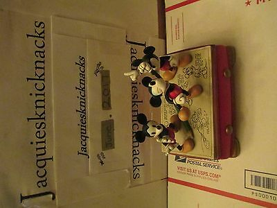 DISNEY MICKEY mouse jewelry box sculpture watch fossil set mint