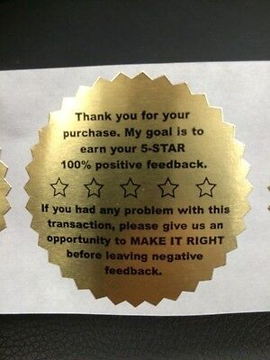42 Pcs  Notary /& Certificate Gold Foil Starburst Seal Labels Free Postage