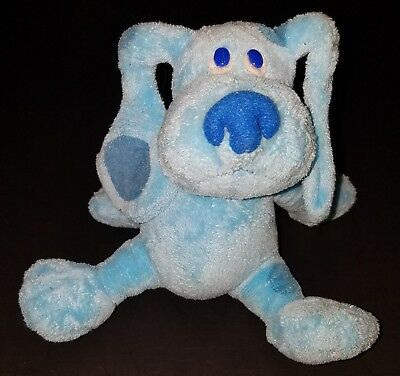 blues clues green puppy plush. TY Blues Clues Bean Bag Plush Blue Puppy Dog Stuffed Animal Toy 2006 Green