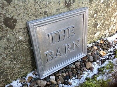"Solid Lead House Name Plaque ""the Barn"""