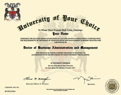 Personalised Fake Novelty Replica School College University Degree Certificates