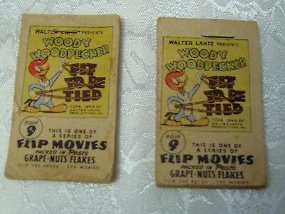 Vintage Post Grape Nut Flakes Woody Woodpecker Flip Movie Books (2)