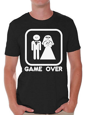 Game Over Funny T-Shirt Groom And Bride Wedding Tee