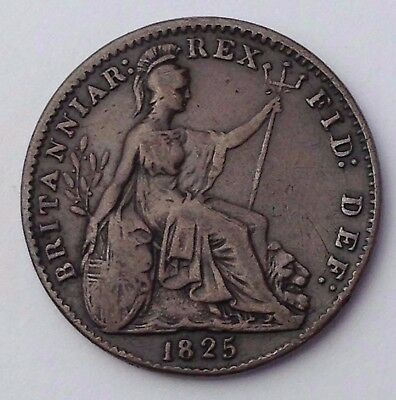 Dated : 1825 - One Farthing - Coin - King George IIII - Great Britain