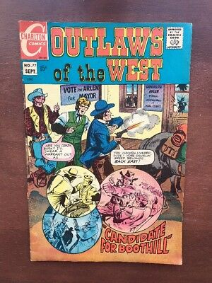Outlaws Of The West #77 (1969) 7.0 FN Charlton Comics Key Issue Western Comic