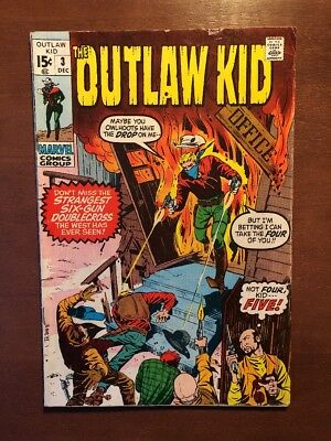 The Outlaw Kid #3 (1970) 7.0 FN Western Comic Marvel Comic Bronze Age