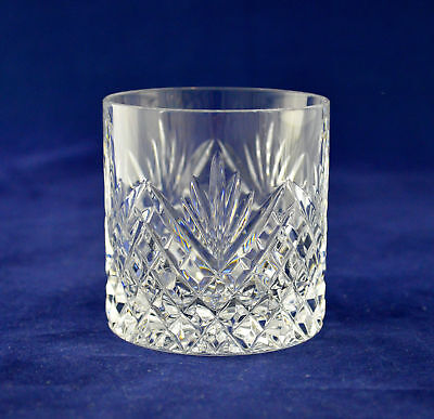 "Tyrone Crystal ""ANTRIM"" Whiskey Glass / Tumbler – 7.3cms (2-7/8″) Tall"